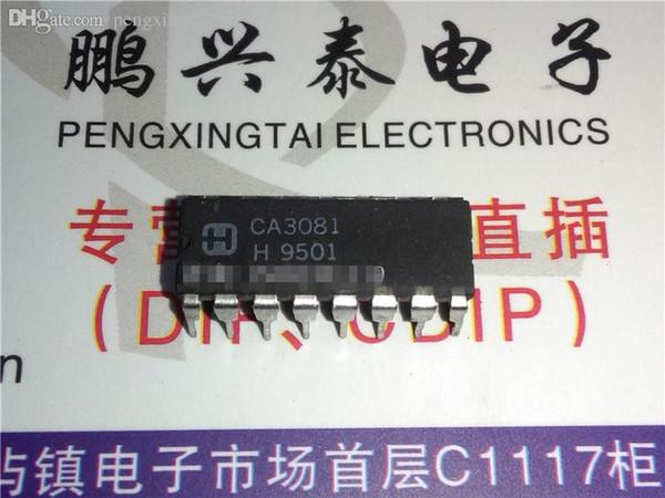 CA3081 / CA3081EX . CA3081E , SMALL SIGNAL TRANSISTOR integrated circuits CHIP / double 16 pins dip plastic package . PDIP16 . ICs