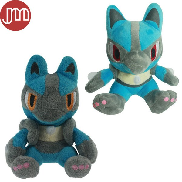New Lucario Soft Plush Toy Stuffed Cartoon Doll Kids Gift 14-18cm 2 Styles Free Tracking