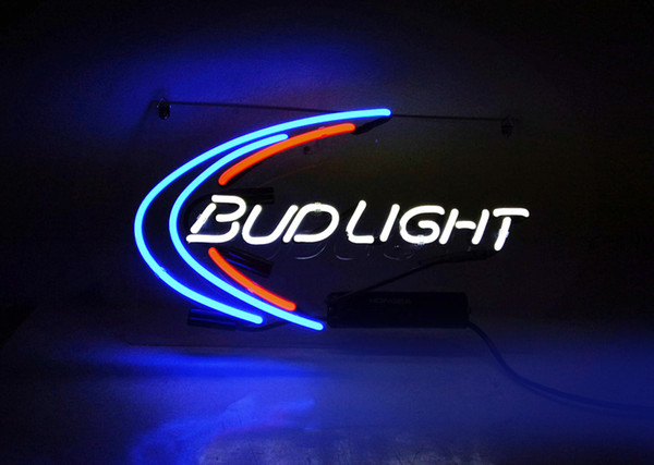 top popular 17*14 inches New Tat tire Neon Beer Sign Bar Sign Real Glass Neon Light Beer Sign TN 158 bud light 2021