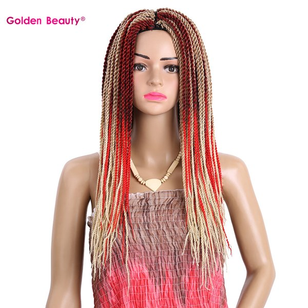 2018 Golden Beauty 18inch Synthetic Crochet Hair Extensions
