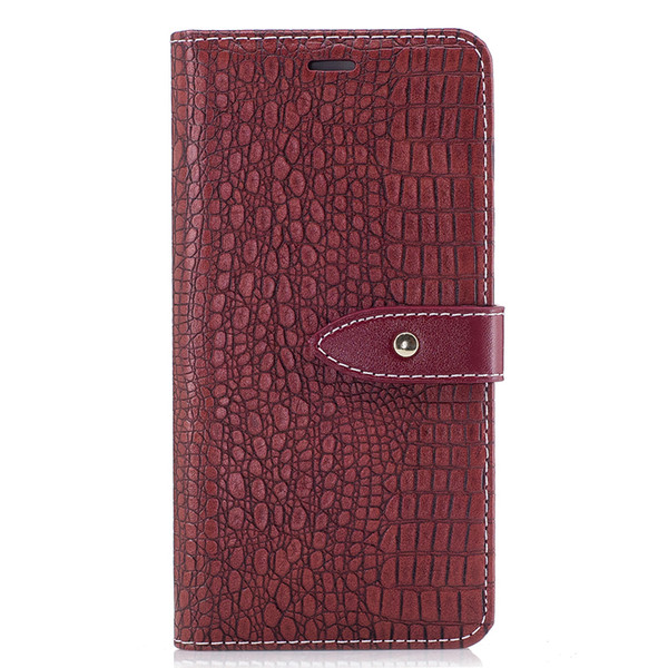 For Huawei P10 Case Luxury Crocodile Stripes PU Leather Wallet Flip Protective Back Cover For Huawei P9 Phone Bag Cases