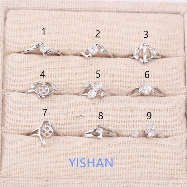 top popular New Gifts Hot sale Fashion Style 925 Sterling Ring Holder Ring Setting for Pearls Best Gifts for Girls 2019