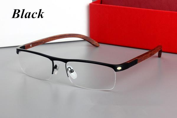 mens eyeglasses fashion Coupons - Brand Glasses-men mens fashion prescription spectacle optical eyeglasses glasses frame 4581369 wooden leg half rim frame free shipping