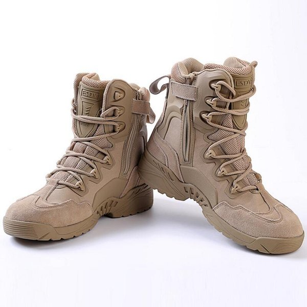 2017 Mens Tactical Boots Breathable Outdoor Hiking Shoes Rock Climbing Camping Sports Shoes For Men Black Khaki Free Shipping