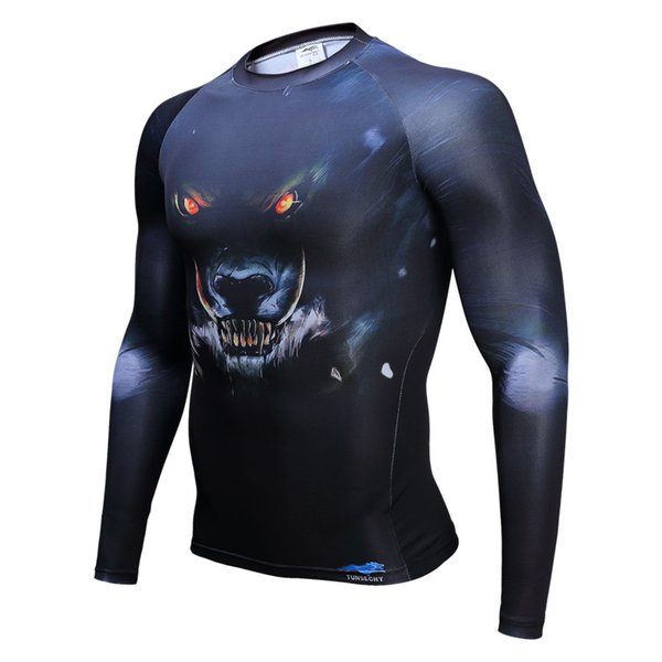 high quality body engineers compression t shirt men bodybuilding mens long sleeve t shirt tops New Arrival compres shirts 4XL