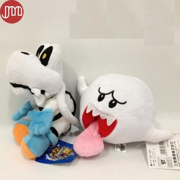 New 2pcs Super Mario Boo Ghost Mushroom Long Tongue Koopa Troopa Turtle Tartosso Dry Bones Plush Doll Baby Toy 9-15cm Anime Gift