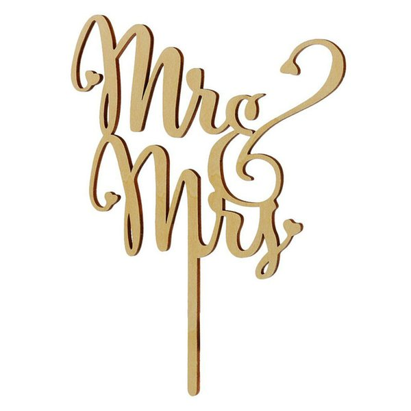 Rustic Wedding Cake Topper Wood Mr And Mrs Casamento Engagement Party Cake Decoration Free Shipping ZA4015