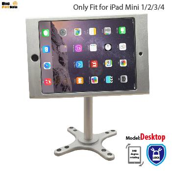 Fit for iPad mini1 234 wall mount metal case stand display retail bracket store tablet pc lock holder support Adjust the angle