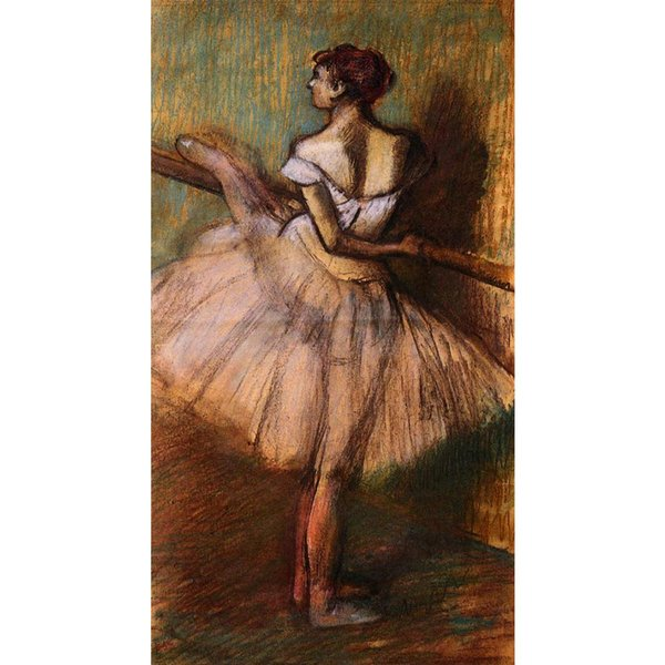 Ballet dancers Edgar Degas Dancer at the Barre hand-painted oil painting high quality