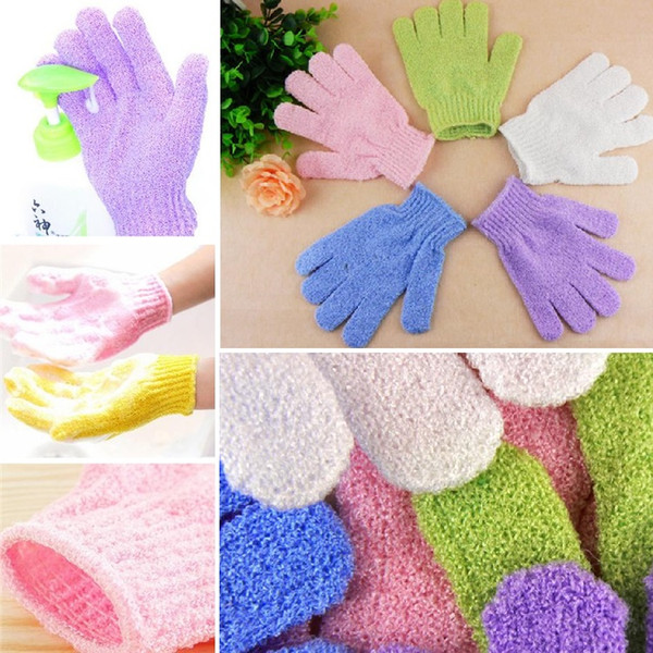 Factory price 300 Pcs Exfoliating Bath Glove Magic fingers bath gloves Bath gloves scrub and wash towel chamfer 4119