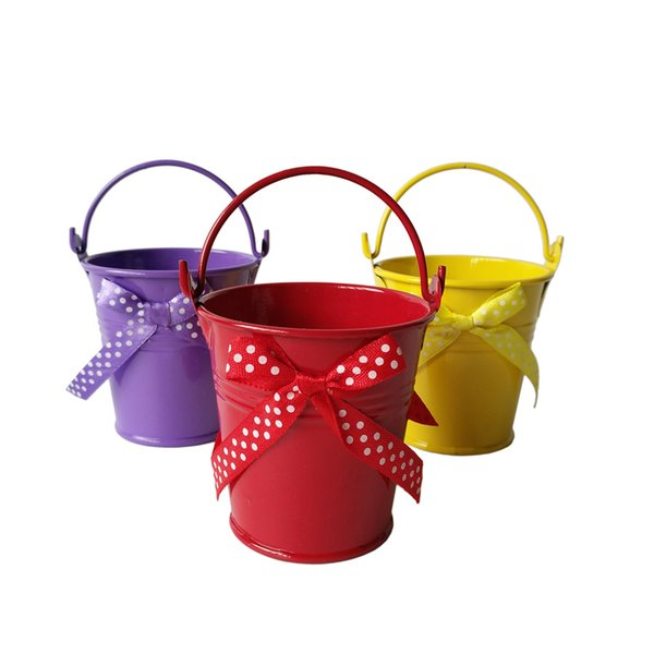 D7*H7CM butterfly Party Favor Metal Pail Tin box mini bucket Rustic Decoration candy party favors supplies