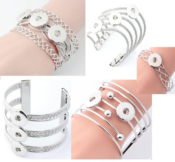 Hot wholesale Snap Bracelet&Bangles Newest Design Fashion Snap Button Noosa Chunks Charm Bangles Fit 18mm Snaps Jewelry