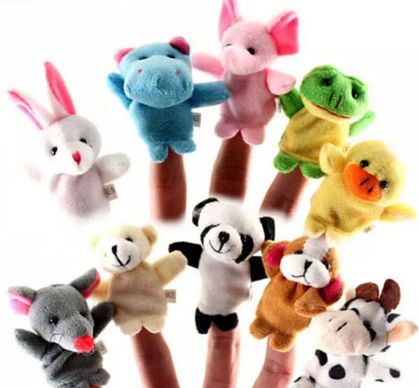 best selling 2017 Finger Puppets Finger Animals Toys Cute Cartoon Children's Toy Stuffed Animals Toys wholesale