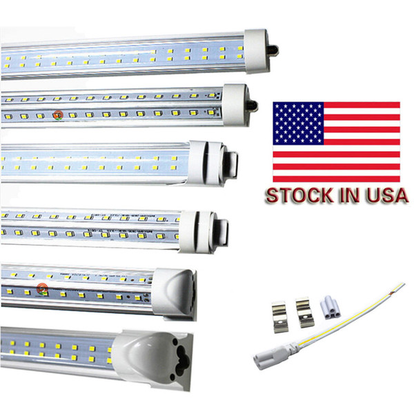 R17D LED-Röhren 72W T8 8ft FA8 Single Pin G13 R17D Integrierte Doppelseiten smd2835 LED-Lichtröhren 8 Fuß UL AC 85-265V