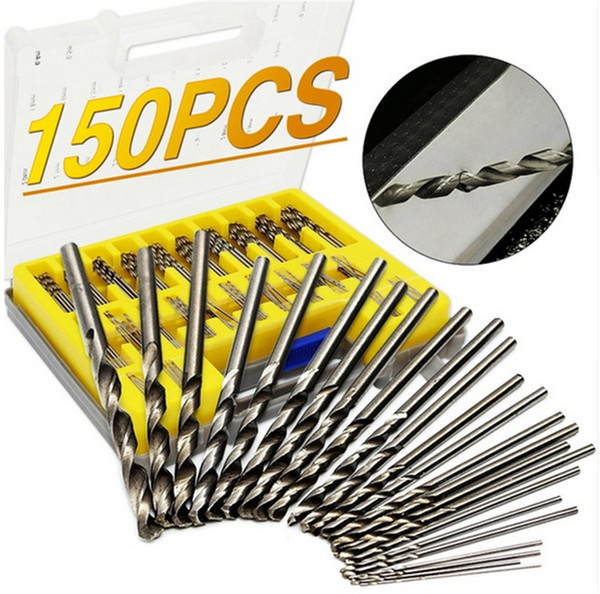 150Pcs HSS Power Rotary Micro Twist Precision Foret Extracteur Vis Perçage Bits Guide Ensemble Broken Bolt Remover Facile Out Set