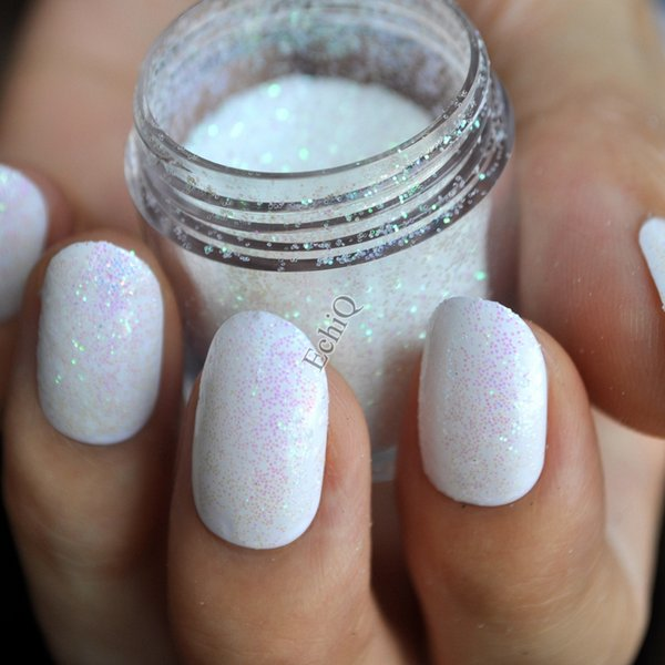 Wholesale 0.2mm 008inch Iridescent White Purple Green Shade Bling ...