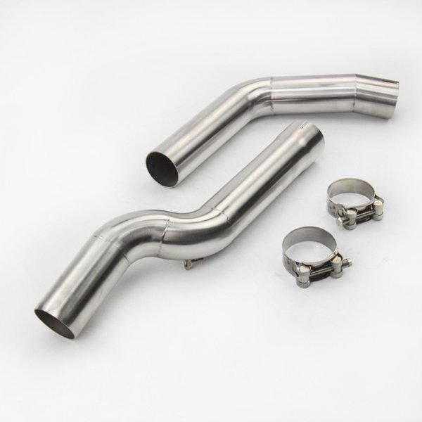 Motorcycle Exhaust muffler middle pipe stainless steel Muffler link pipe section adapter pipe for kawasaki Z250SL