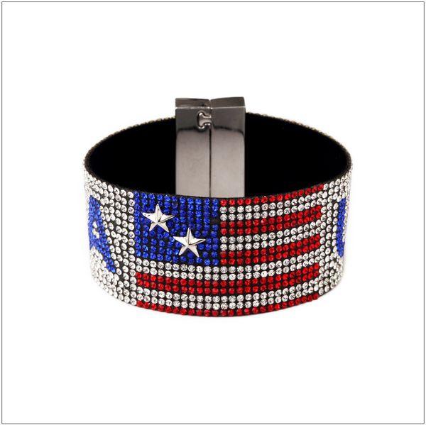 50pcs New Explosive Star Tide Singer Nightclub USA USA Hot Diamond Bracelet Bracelet Hiphop Hip Hop Jewelry Independence Day Jewelry