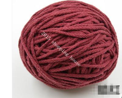 013 nähzubehör 5 MM acht farbe baumwolle seil kordelzug hosen tasche DIY handgewebte baumwolle seil Pocket Cap