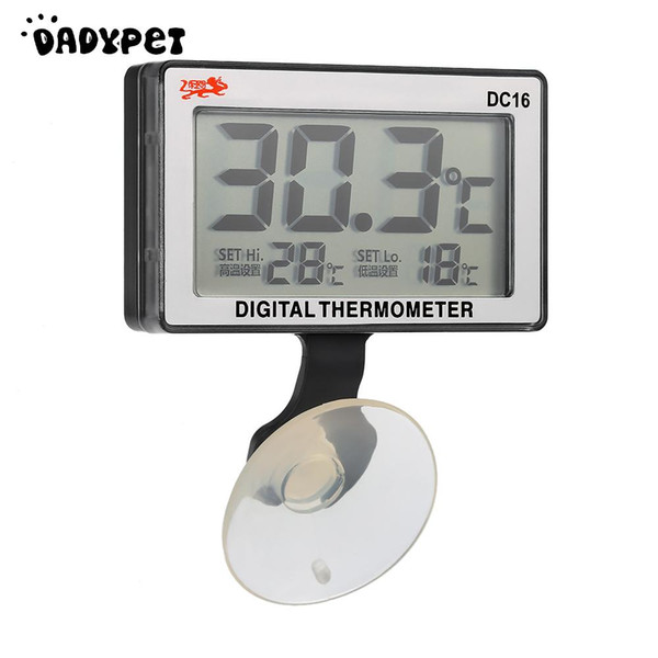 LCD Digital Fish Tank Aquarium Thermometer Submersible Water Temperature Meter 0C~50C High/Low Temperature Alarm