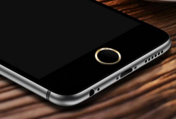 Aluminum Metal Ring Touch ID Home Key Button Sticker Protector for iPhone 7/6S/6, 7/6S/6 Plus,SE/5S with Fingerprint Identification Function