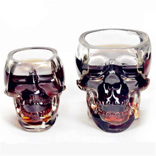 Wholesale- Creative Cup Crystal Skull Vodka Wine Bottle Beer Mug Pirates Glass