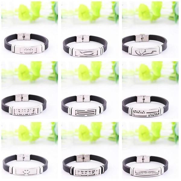 Hot sale Simple fashion cartoon hot silicone stainless steel scorpion bracelet FB377 mix order 20 pieces a lot Slap & Snap Bracelets