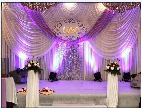 20ft*10ft Luxury Wedding Backdrop Curtains With Swags Event And Party  Fabric Wedding Backdrop Curtains
