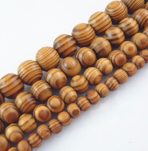top popular Natural Woodgrain Round Loose Spacer Bead Jewelry Fit DIY Bracelet 6,8,10,12,14 ,16mm 2020