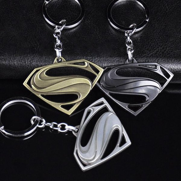 Good A++ Anime Key Chain Avenger Alliance Pendant Auto Parts Superman S Logo Creative Gifts KR068 Keychains mix order 20 pieces a lot