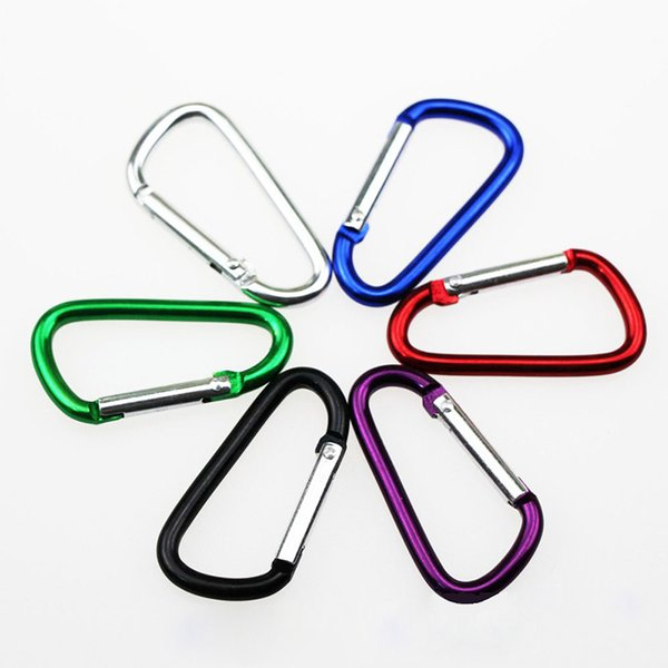 Outdoor Sports Travel Camping Climbing D Shape Aluminum Alloy Clip Key Chain Snap Carabiner Durable Hook Free Shipping