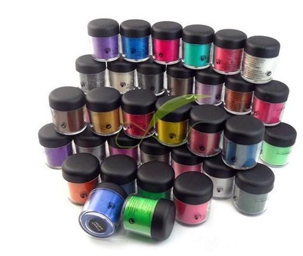 Directo de fábrica directo de DHL envío libre nuevo maquillaje ojos 7.5g pigmento sombra de ojos (con nombre de colores) 24 colores diferentes!