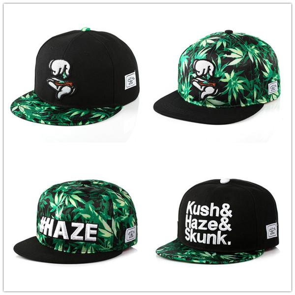 6 magic hand hip-hop flat hat Maple leaf cloth hemp leaf three-dimensional embroidery street dance baseball cap hat wholesale gender equalit