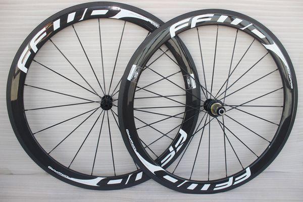 700C Racing Bicycle ruedas de carbono 50mm FFWD Carbon Road Juego de ruedas clincher 23mm ancho cadre carbone
