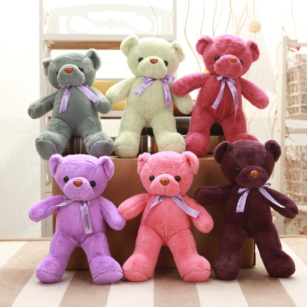 "top popular Teddy Bears Plush Toys Gifts 12"" Stuffed Plush Animals Soft Teddy Bear Stuffed Dolls Kids Small Teddy Bears 2020"