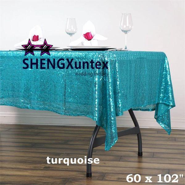 "Hot Wholesale Price 60""*102"" Rectangular Sequin Table Cloth \ Cheap Wedding Tablecloth"