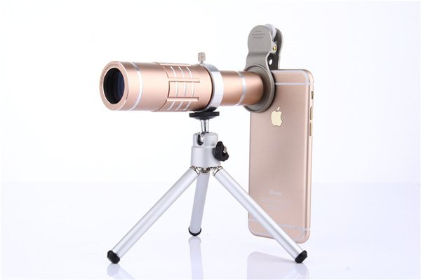 18X Zoom Phone Telescope Telephoto Camera Lens + Tripod + Aluminum Protective Shell Universal For iPhone Android Mobile Phones