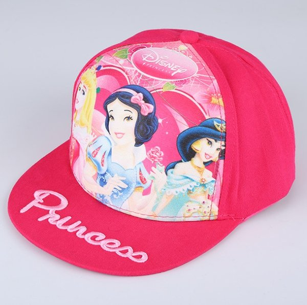 children caps boy girl baseball caps with princess cartoon printing kids cap 12 pcs a lot - Printing With Children