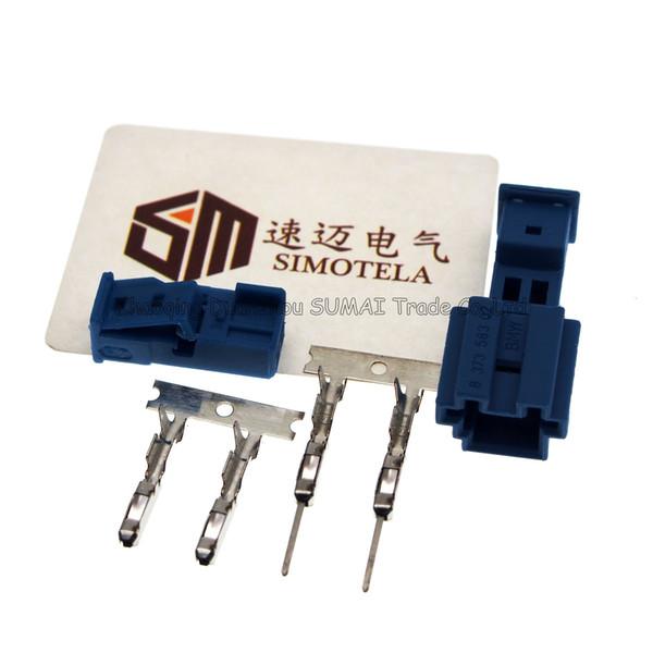 Blue Good 2Pin quality Auto connector,Car Speaker plug,Auto stereo plug,Car electric connector for BMW X1 X5 car ect