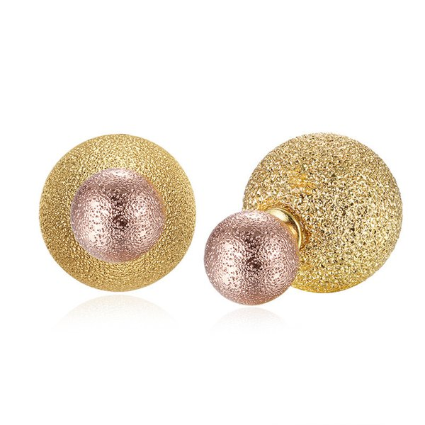 New Stylish Brass Laser Cut Metallic Glitter Round Barbell Stud Cartilage Helix Earring for Women Free Shipping