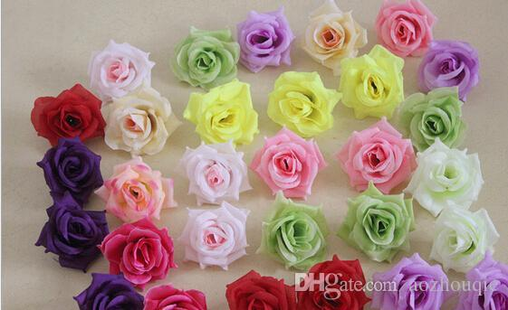 Wholesale decorative flowers wreaths at 2873 get wholesale silk wholesale silk artificial flowers head big rose flowers ball head brooch wedding decorations flower hot sell mightylinksfo