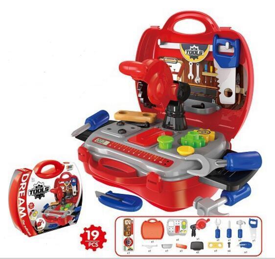 7 Стиль играть ремонт моделирование инструмент игрушки кухня игрушки кухня нести кассовый аппарат коробка инструменты моделирования обслуживания YH525