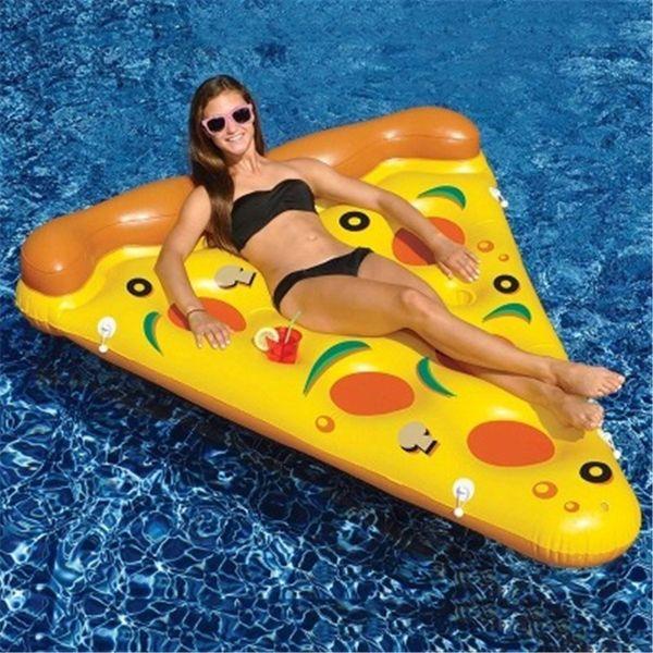 Le plus chaud Vente D'été Gonflable Plancher Flottant Gonflable Sports Nautiques Natation Flotteur Radeau Air Matelas De Natation Piscine Plage Cour Jouet Pizza DHL