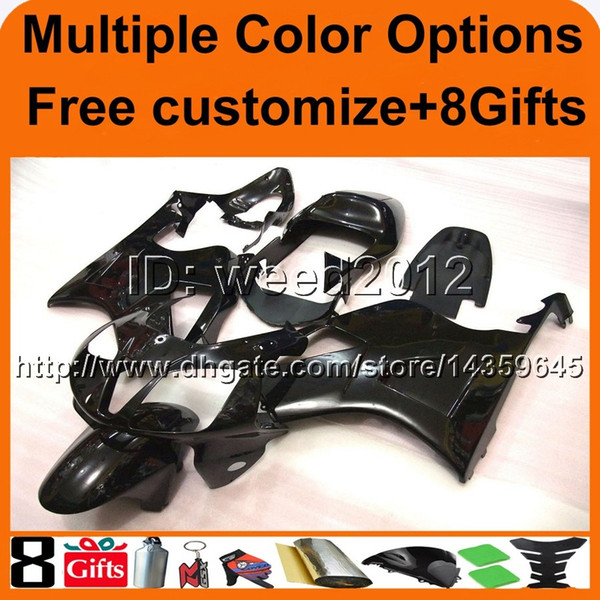23colors+8Gifts black motorcycle cover for HONDA RC51 VTR1000SP1 2000-2006 00 01 02 03 04 05 06 ABS Plastic Fairing