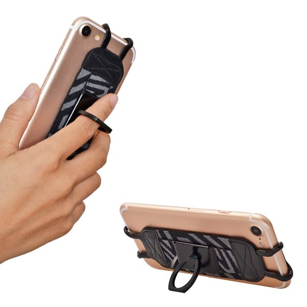 TFY Security Hand Strap with 360°Rotation Metal Ring Finger-Grip Holder & Stand for iPhone 6 / iPhone 7