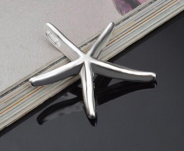 2017 new Beautiful Gorgeous Design 925 sterling silver fashion Charm pretty women cute star Starfish pendant fit necklace bracelet