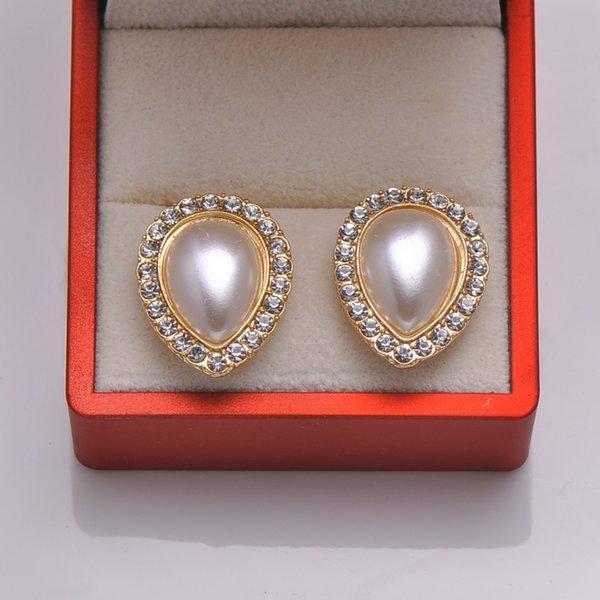 (L0840) frete grátis 10 pçs / lote, botão de metal strass, luz rosa chapeamento de ouro, marfim pérola, apartamento de volta