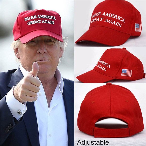 top popular Make America Great Again Trump Hat Snapback ball Caps 2017 General Election AmericaVotes Caps Unisex Adjustable Hats for women men L size 2019