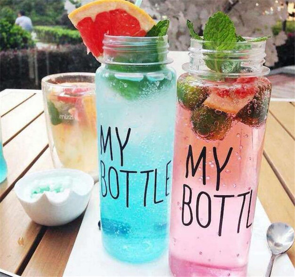 110pcs My bottle water Bottle Korea Style New Design Today Special Plastic Sports Water Bottles Drinkware With Bag Retail Package G036