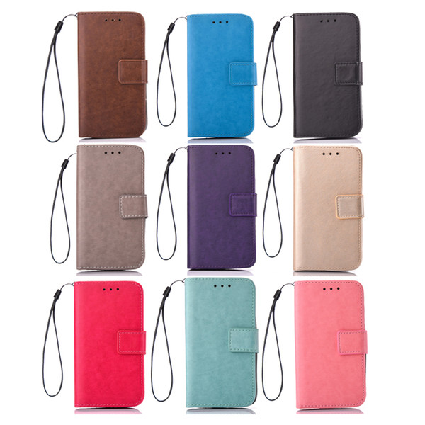 Best quality cellphone cases PU leather mobile phone Wallet Case 360 degree protection shelter business bank card holder dhl free shipping